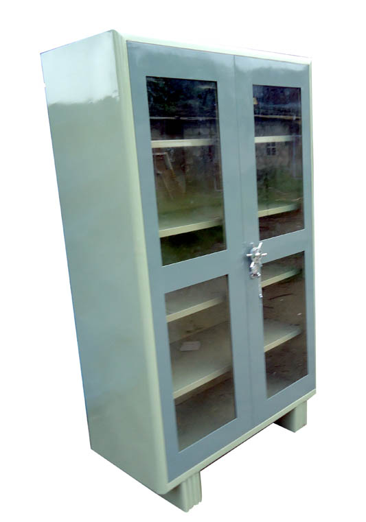 Steel Glass Door Almari